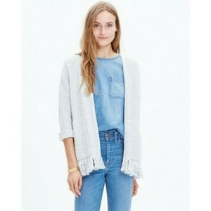 Madewell Memento Fringe Cardigan Sweater Textured